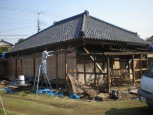 耐震工事中の古民家