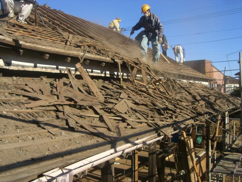 古民家の屋根工事
