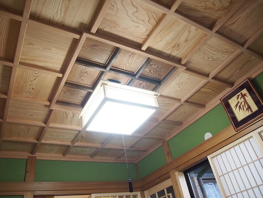 伝統を活かした和室の天井